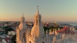 Lisbon Portugal Sao Vicente 4K aerial drone travel video Alfama sunset scenic