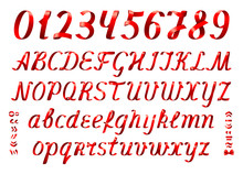 Red Ribbon Alphabet Letters An...