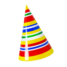 Party Hat Against White Backgr...