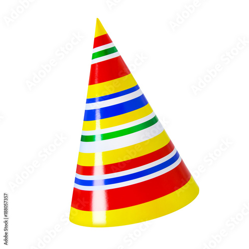 Photo Party hat against white background