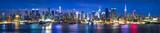 Fototapeta Nowy Jork - Manhattan Skyline bei Nacht, New York City, USA