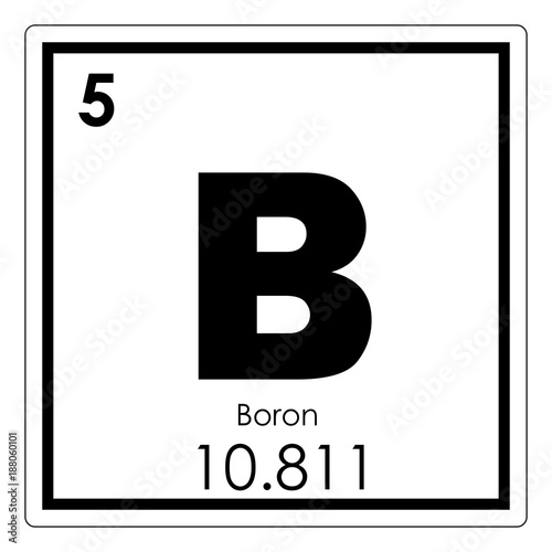 Boron Chemical Element Buy This Stock Illustration And Explore