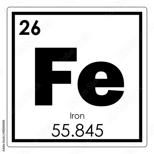 Fotografie, Tablou  Iron chemical element