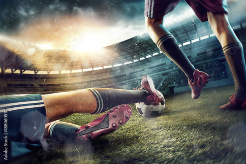 the-soccer-football-players-at-the-stadium-in-motion