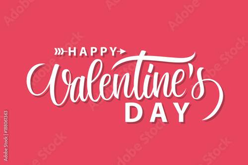 Stampa su Tela Happy Valentines Day romantic greeting card template