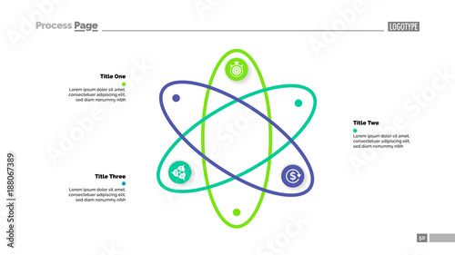 Three steps atom model slide template buy this stock vector and three steps atom model slide template ccuart Image collections