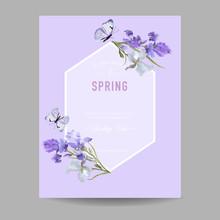 Floral Bloom Spring Frame With...