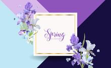 Floral Bloom Spring Banner Wit...