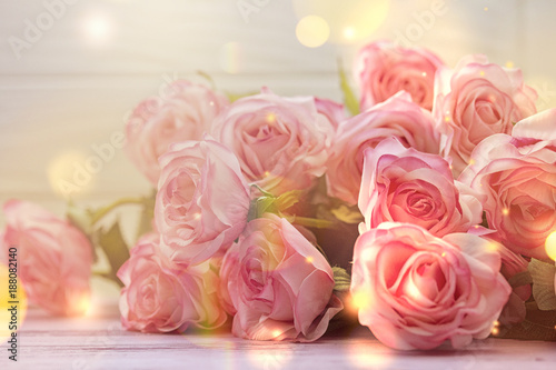 Foto op Canvas Roses light pink roses