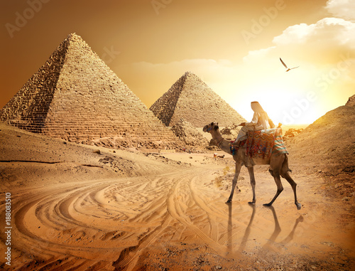 Road to pyramids Canvas Print
