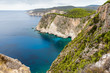 View of Keri cape located in the southern part of the island of Zakynthos. Greece.