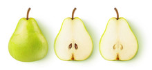 Isolated Pears. Whole Yellow G...