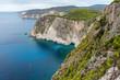 Coastal landscape of Cape Keri on Greek island Zakynthos in the Ionian Sea.