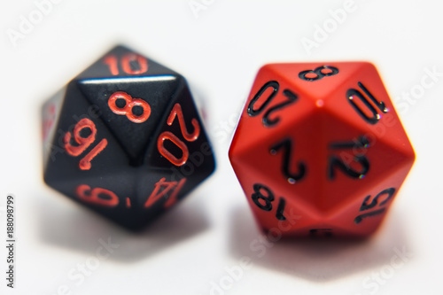 Black and Red D20 плакат