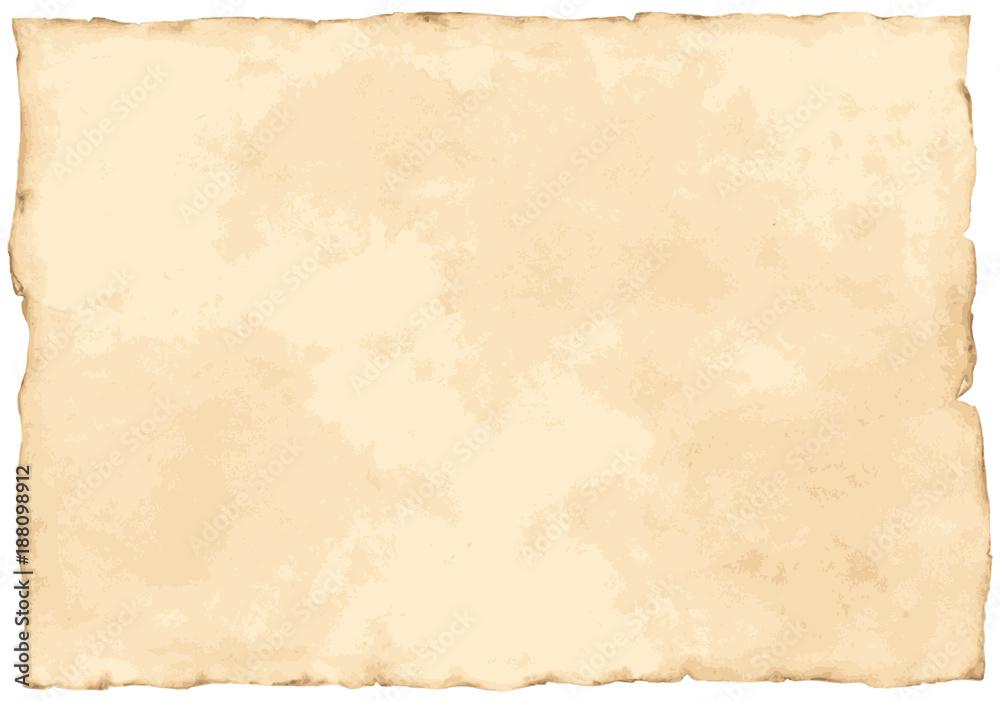 Fototapety, obrazy: Vintage paper background isolated on white.