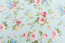 Retro Rose Fabric Background