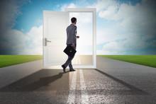 Businessman In Front Of Door I...