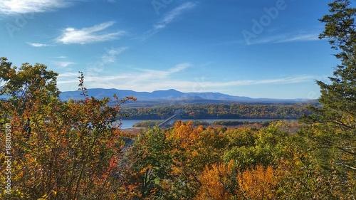 Fotografie, Tablou  Hudson River, Rip Van Winkle, Catskills overlook from Olana