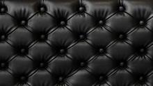 16:9 Ratio. Luxurious Black Colour PVC Leather Sofa. Leather Texture Background.