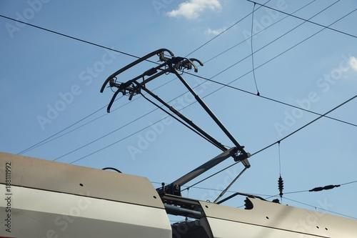 Fényképezés Train Pantograph Closeup