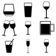 Collection of icons theme drinks and alcohol.