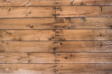 Wooden Rustic Background - Boards With Nail And Knots Hole
