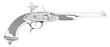 Illustration Of Old Gun