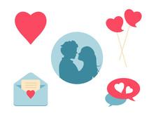 Love Heart Icon Set. Design El...