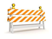 Isolated Orange Roadblock