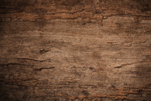 Wood Decay With Wood Termites , Old Grunge Dark Textured Wooden Background , The Surface Of The Old Brown Wood Texture