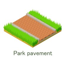 Park Pavement Icon, Isometric ...