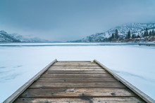 Winter Landscape Of Wooden Doc...