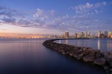 Manila Bay Water Front During Sunset