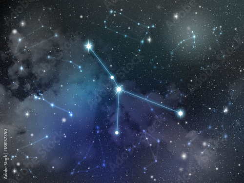Cancer constellation star Zodiac