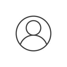 User Account Avatar Line Icon,...
