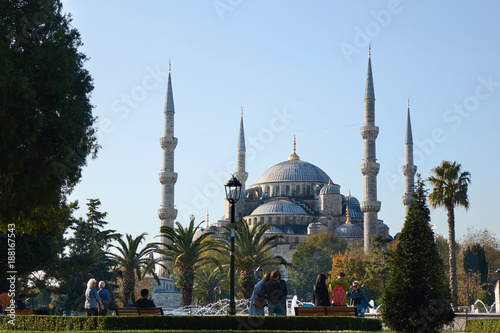 beautiful view of the Blue Mosque Poster