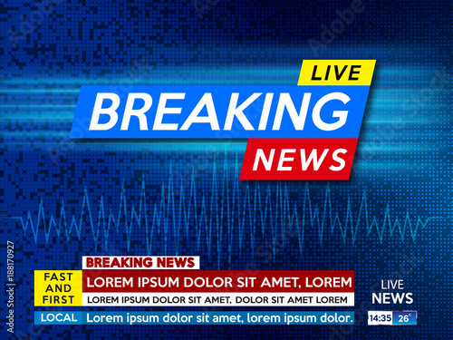 Background Screen Saver On Breaking News Live Blue Technology Vector