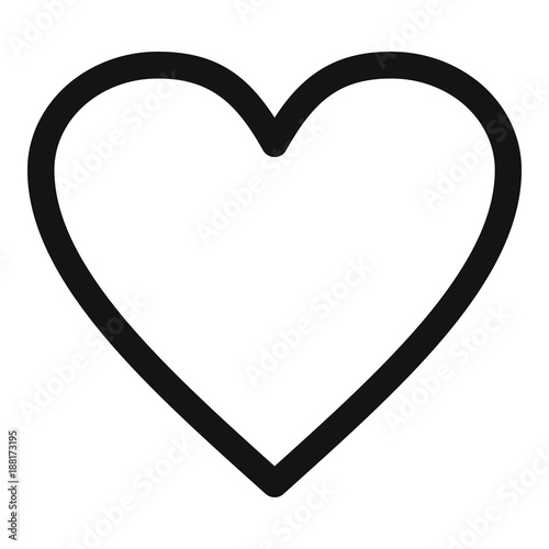 Photo Ardent heart icon