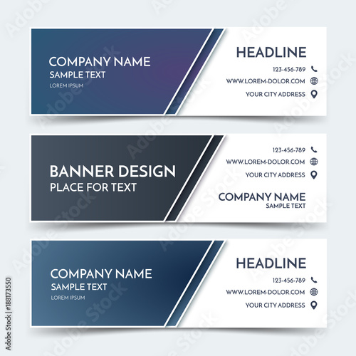Business banner templates vector corporate identity design blue business banner templates vector corporate identity design blue technology background layout set of fbccfo Choice Image