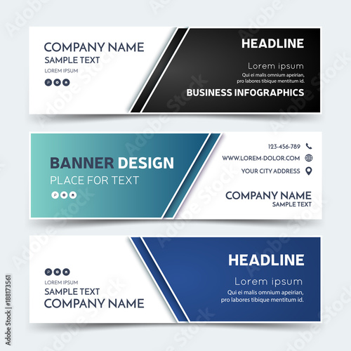 Business banner templates vector corporate identity design business banner templates vector corporate identity design technology background layout set of modern flashek Images