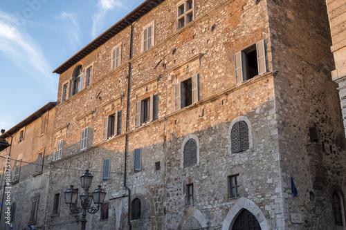 Amelia (Umbria, Italy): historic town Canvas Print