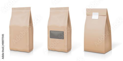 Cuadros en Lienzo  Paper foil for food stand up snack sachet bag packaging set