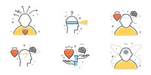 Flat Design Set Of Intuition, ...