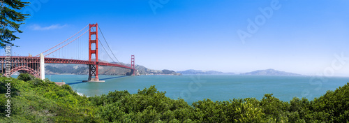 Canvas Prints San Francisco San Francisco Golden Gate Bridge Panorama als Hintergrund