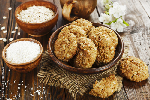 Oatmeal cookies with coconut Fototapete