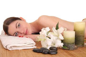 Obraz na płótnie Canvas woman relaxing in spa