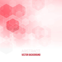 Pink Abstract Background. Abstract Hexagon Background. Technology Polygonal Design. Digital Futuristic Minimalism.