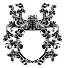 Shield Knight Heraldic Crest C...