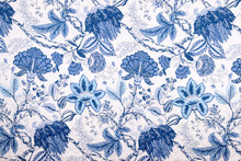 Vintage Style Of Blanket Flowers Fabric Pattern