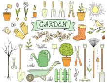 Colorful Hand Drawn Garden Too...